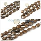 "Jewelry making Oval faceted flat Bronzite gemstone beads strand 15"" seed-beauty"