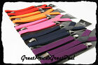 10 Color Clip-on Suspender Elastic Y-Shape Adjustable Brace Mens Ladies One Size