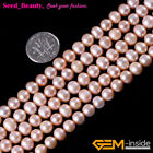 "Round Pretty Freshwater Pearl Gemstore JewelryMaking Beads 15""SeedBeautysd3200-V"
