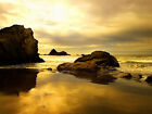 Sunset On The Rocks Canvas Pictures Wall Artwork Ocean Sea Prints All Sizes