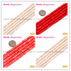 jewelry making 4x6mm faceted rondelle red white orange coral gemstone beads 15""