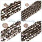 """jewelry making Natural 6mm 8mm 10mm faceted freeform pyrite gemstone beads 15"""""""