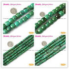 """Rondelle Roundel Green Old Turquoise Gemstone Jewelry Making  Beads 15"""" sd4093-v"""