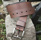 SALE - Mens Designer Brown Leather Belt by Dice, Size 32-34