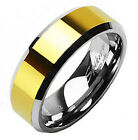 Tungsten 14K Gold Plated Faceted Comfort Fit Wedding Band Ring Size 5-13 $4.99 USD