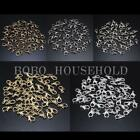 50/100Pcs Plated Jewelry Necklace Parrot Lobster Clasp Claw Buckle Hook Finding