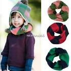 N4U8 New Baby Wool Toddler Stripe Neck Round Neckerchief Kid Shawl wraps Scarf
