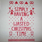 simply having a wasted christmas time ugly sweater holiday party contest t shirt