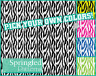 ZEBRA STRIPES PATTERN VINYL #2 Craft Vinyl Decal Sheets Scrapbook CUSTOM COLORS!