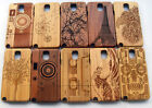 Carved Design Genuine Wooden Bamboo Case for Samsung Galaxy Note 3 III N9000 NEW