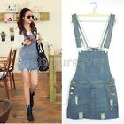 Fashion Womens Lady Washed Casual Jumpsuit Romper Overall Jean Denim Dress