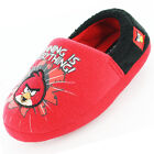 Boys Size 10 - 2 Red ANGRY BIRDS Full Slippers NEW Winning