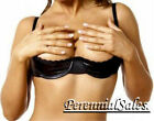 Black Vinyl Shelf Bra Chopper Open Cup Push-up Clevage Show Nipples 32-44 4197