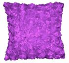 Sa208a Light Purple 3D Flower Taffeta Satin Cushion Cover/Pillow Case*Custom