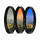 52 55 58 62 67 72 mm ND Graduated Gradual Grey+blue+Orange filter for Canon Sony