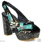 Irregular Choice Womens A Night Under The Stars Sequin Heels Shoes Size 2-10 New