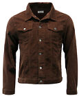 NEW MENS RETRO SLIM WESTERN JACKET Cord CORDUROY 70S Mod WOBURN BROWN MC163