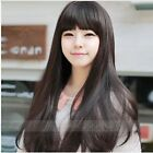 New Style Womens Girls Sexy Long Curly Full human Hair gift Fashion Wig+wigs cap