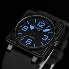INFANTRY Police Crops Mens Sport Army Quartz Watch Black Rubber Strap Waterproof