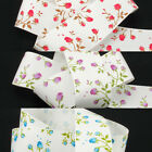 Red, Blue Or Purple Vintage Rose Printed Grosgrain Ribbon, 15mm-40mm, 3-4 Metres