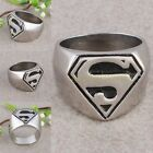 Cool Punk Men's Jewelry Stainless Steel Superman Superhero Symbol Finger Ring
