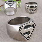 Cool Punk Rock Men Stainless Steel Superman Superhero Symbol Finger Biker Ring