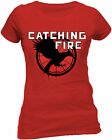 HUNGER GAMES Catching Fire Mockingjay  T Shirt Red Womens OFFICIAL NEW 10139