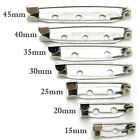 FREE SHIPPING 15MM 20MM 25MM 30MM 40MM 45MM silver brooch back bar pin findings