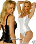 Satin Corset Shoulder Strap Shaper Zippered Front Lace-up Back 34-50 EM 7916 New