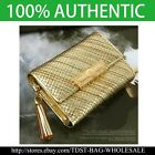 [OMNIA]Crystal Ladies Wallet Genuine Leather Trifold Purse ID Card Coins Bag316S image