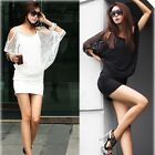 Sexy Women Dress Casual Party Mesh Smock Free Size