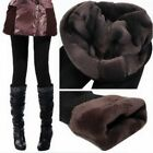 Black/Coffee Thick Warm Fleece lined Winter Tight Fur Pencil Leggings Pants