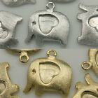 Elephant Heart Pendants Charms Necklace Earrings Bracelets 16K gold Silver #19