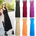 Hot Casual Thin Sexy Women Girl Backless Sleeveless Long Dress Summer Beach Vest