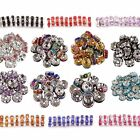 100pcs Crystal Rhinestone Spacer Beads Paved Rondelle DIY Jewelry Making 6mm