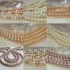 OUTSTANDING LUSTER Genuine pearl strand white pink lavender multicolor apricot