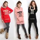 2014 New Women Winter Warm Coat Sweater Hooded Jacket Casual Outwear Parka XS SM