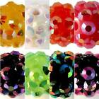 5 x Acrylic Round Beads with Resin Rhinestones - 12mm -CHOOSE COLOUR