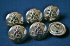 6x Gold Prince of Wales Royal Regiment Jacket Blazer Buttons 14mm 19mm Firmin