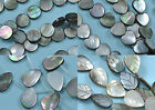 Black Dark Grey Sea Shell Mother of Pearl Beads for Jewellery Making - 1string