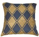ng09a Blue Sandy Diamond Checker Linen Blend Sofa Cushion Cover/Pillow Case
