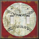 Light Switch Plate Cover - Baseball - Sports Home Decor