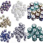 Murano Faceted Big Hole Spacer Glass Beads For Charms European Bracelet Craft
