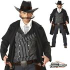 Adult Mens Gun Fighter Cowboy Wild West Western Fancy Dress Costume Outfit