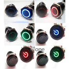 12V R/ G/ B Lights Led Metal Auto Car DIY Push Button Momentary Switch 16mm Hole