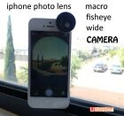 Photo Lens For Apple iPhone 4 5 Macro + Fisheye + Wide Angle Camera 3 in 1