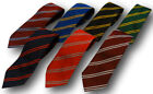 School Uniform Ties - Double Narrow Stripes - Many Colour Choices - Adult Length