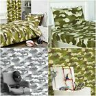 CAMOUFLAGE ARMY DUVET COVER SET WALLPAPER FITTED SHEET MILITARY