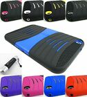 FOR SAMSUNG GALAXY TAB III 3 8.0 RUGGED HYBRID ARMOR EXO CASE COVER+STYLUS/PEN