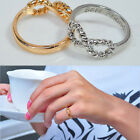 Fashion Punk Infinity 8 Bowknot Best Friend Letter Couple Friendship Rings Gift